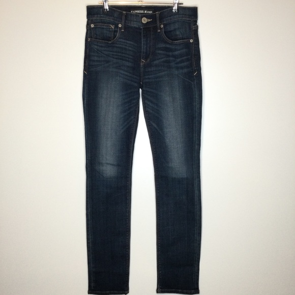 Express Skinny Mid Rise Jeans Size 4R